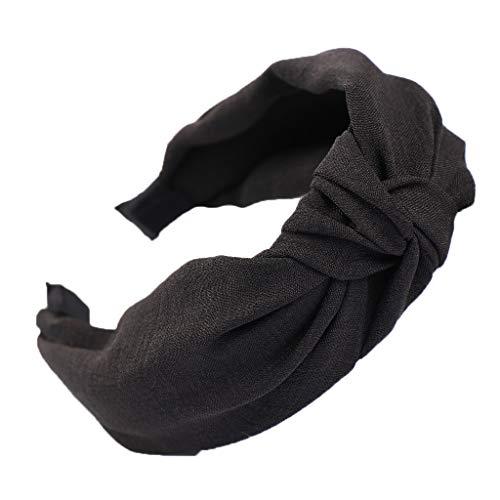Headbands,Fashion Bow Knot Hairband Hoop Sweet Girls Hair Accessories for Women (Black)