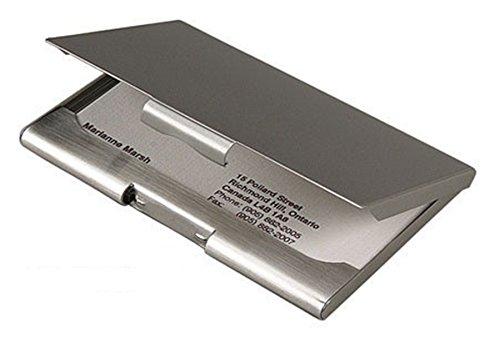 Heim Concept 11642 Elegance Executive Business Case, Silver - Executive Silver Business Card Case