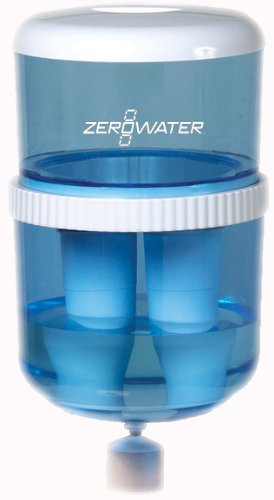 (ZeroWater ZJ-003 Filtration Water Cooler Bottle with Electronic Tester, Filters Included)