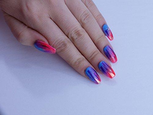 Purple Galaxy Custom Press on Nails by Unicornails