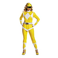 Disguise Women's Yellow Ranger Adult Costume