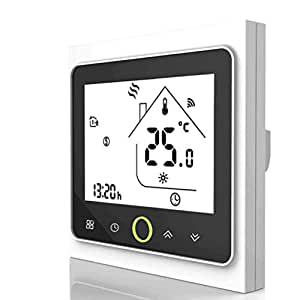 Smart WiFi Thermostat Temperature Controller for Floor Heating Electric,Work with Amazon Alexa, Google Home, IFTTT, 16A