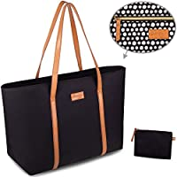 Tote Bag For Women - Work or Travel with Laptop - Large Black Shoulder Bag