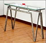 Cheap Simmons Upholstery & Casegoods 7313-49 Square Metal & Glass Consl TBL Console Table