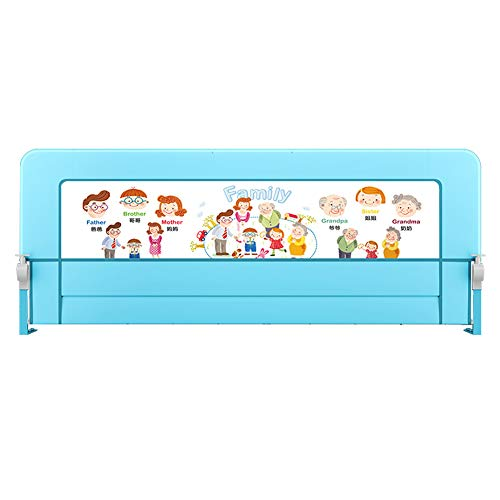 Bed rail Adjustable Baby, Height 72 cm, Bed Guardrail, Child Safety Shatter-Resistant Sleep Bed Side Baffle, Color Size Optional (Color : Happy House 1.8m)