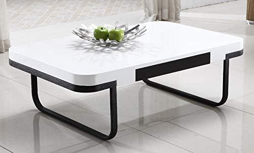 Mesa de Centro Modelo Chic combinada en Blanco y Negro.: Amazon.es ...