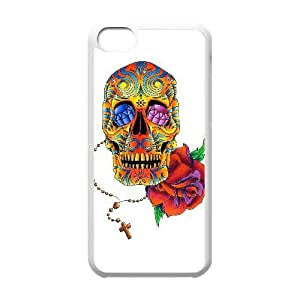 iPhone 5C Phone Case White Sugar Skull Cover KMH4954004