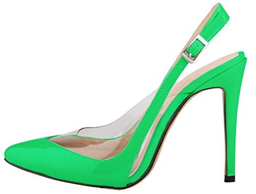 CFP - Zapatos con correa de tobillo mujer Verde