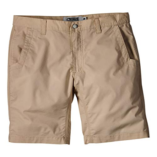 Mountain Khakis Mens Stretch Poplin Short Relaxed Fit: Outdoor Hiking Casual Shorts, Khaki, 36W 8In