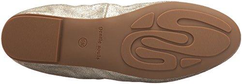 Souls Portia Women's Ballet Gold Gentle Soft Flat 1EwqPZd