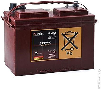Trojan - Batería Plomo de tracción 27TMX 12V 105Ah Auto