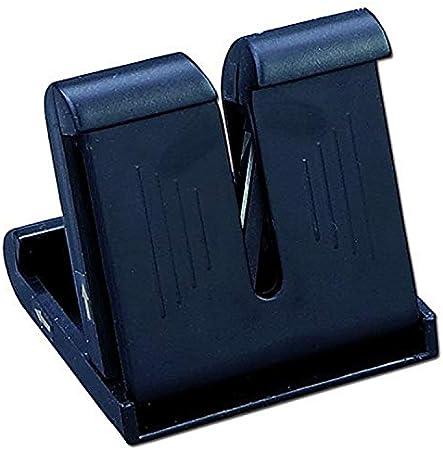 Plástico,Color Negro,Afilador Profesional de Bolsillo para Cuchillos
