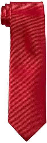 Geoffrey Beene Men's Bias Stripe Solid Tie, Red, One Size (Geoffrey Mens Stripe Beene)