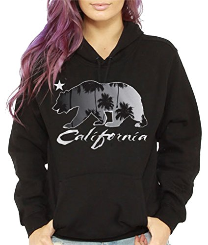 Women's California Palm Trees Hoodie Sweatshirt Cali Bear Hollywood Los angeles