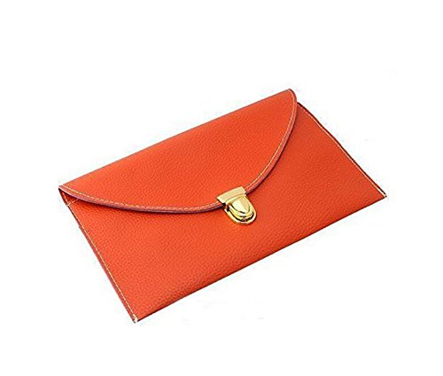 GaGadot Orange Leather Handbag Fashion Shoulder Ladies Envelope PU Bag Purse AF1wATrq