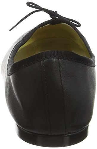 French Sole India Leather - Bailarinas Mujer Black (Black)