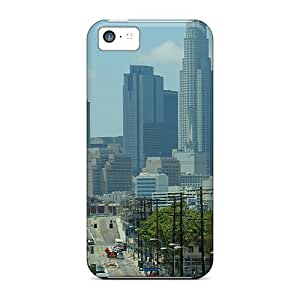 Brand New 5c Defender Case For Iphone (los Angeles Skyline)