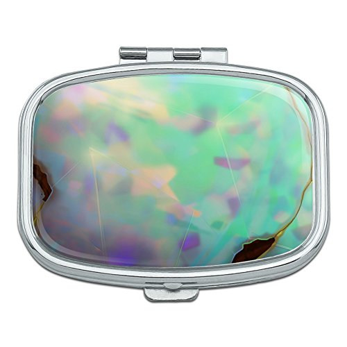 Opal Gemstone Picture (Image Only) Rectangle Pill Case Trinket Gift Box