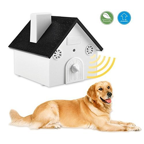 Smarlance Ultrasonic Outdoor Bark Controller No Harm To Dogs or other Pets, Plant, Human,Easy Hanging Bird House Designed with Anti Barking Device Ultrasonic Training Dog Stop Barking