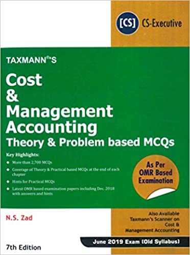 Buy Cost & Management Accounting-Theory & Problem based MCQs - As