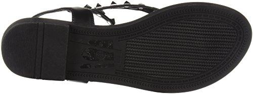Thong Flat Black Women's Sandal Studs Qupid vw8RY