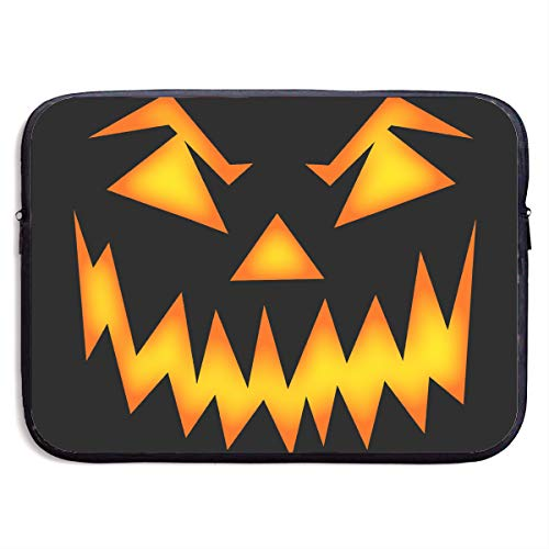 Laptop Sleeve Case Protective Bag Printed Halloween Mean Pumpkin Face Ultrabook Briefcase Sleeve Bags Cover for MacBook Pro/Acer/Asus/Lenovo Dell 13 -