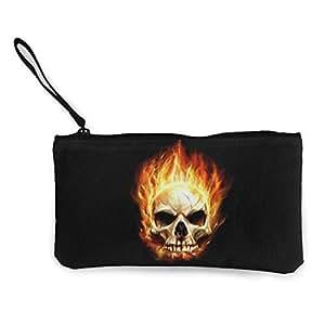 Serity Fire - Monedero portátil de Lona con diseño de ...