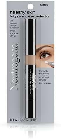 Neutrogena Healthy Skin Brightening Eye Perfector Broad Spectrum Spf 25, Under Eye Concealer, Fair 05, .17 Oz.