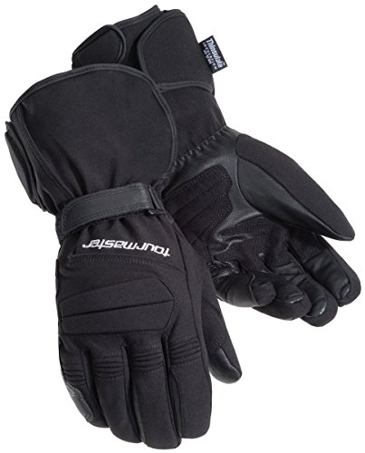 Tour Master Synergy 2.0 Electrically Heated Mens Textile Street Racing Motorcycle Gloves - Black / (Tour Master Motorcycle Glove)