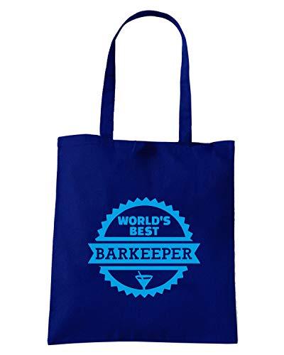 BEER0305 Shirt WORLD Borsa BARTENDER Blu Navy Speed BEST S Shopper 4pTqq