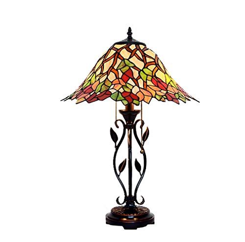 Maple Country Desk (Tiffany Style Table Lamp, 16-inch American Country Maple Leaf Decoration Desk Lamp, Personalized Creative Stained Glass Table Lamp, Study Lamp)
