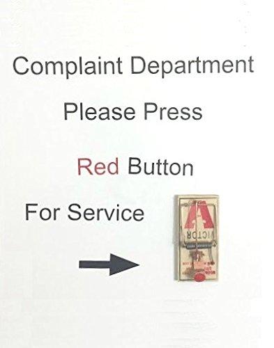Complaint Department Wall (MIA Night Custom Complaint Department Mouse Trap Desk Wall Hang Sign Art Gag)
