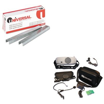 KITAPLS207UNV79000 - Value Kit - Amplivox BeltBlaster PRO Personal Waistband Amplifier (APLS207) and Universal Standard Chisel Point 210 Strip Count Staples - Amplivox Personal Amplifier