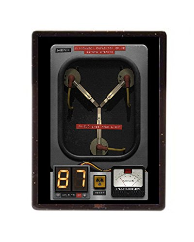 Final Score Products Back To The Future Flux Capacitor Magnet Framed with stand 4X3 inch