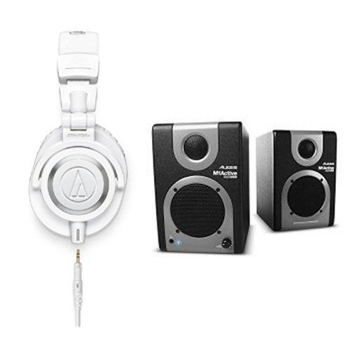 audio-technica-ath-m50xwh-professional-studio-monitor-headphones-with-alesis-m1-active-320-usb-studi