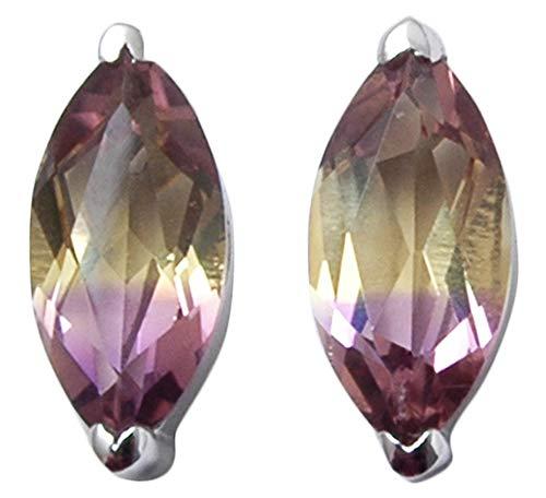 Banithani 925 Sterling Silver Ametrine Stone Stud Earrings Indian Fashion Women Jewelry
