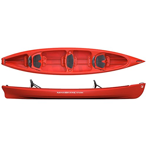 Mad River Adventure 16 Square Stern Canoe - Red