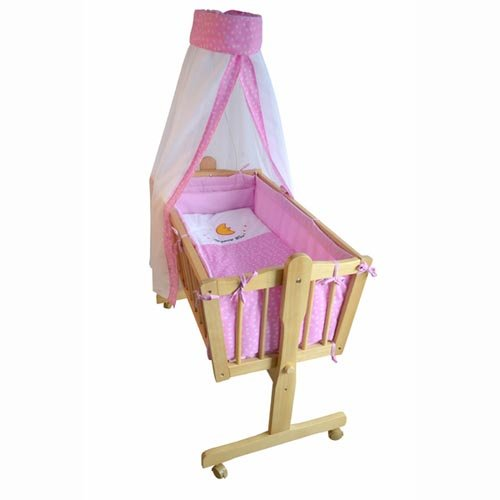 Honey Bee – Completa mecedora, cama, cuna para bebés - rosa - 51365-03 Honey Bee - Completa mecedora TIGGO