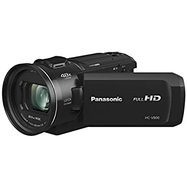 Panasonic Hc-V800 HD Camcorder, 24x Leica Dicomar Lens, 1/2.5 Bsi Sensor, Three O.I.S. Stabilizer Systems, Wireless Twin-Camera Capture (USA Black