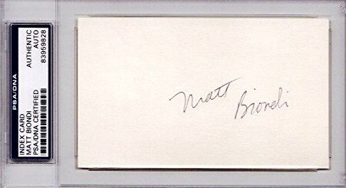 Matt Biondi Autographed Signed Swimming 3x5 Inch Index Card - 11x Olympic Medalist Swimmer - PSA/DNA Authenticity (COA) - PSA Slabbed Holder from Sports Collectibles Online