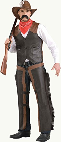 Cowboy Costume Vest – Adult Economy Standard - The Western Outlaw Hat
