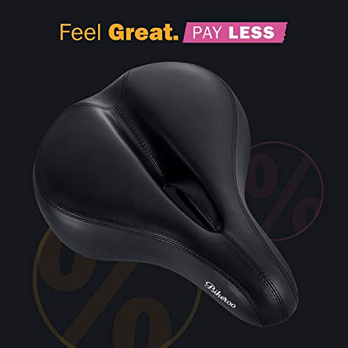 13106a18a47 Most Comfortable Bike Seat for Women- Padded Bicycle Saddle with Soft  Cushion - Replacement Bike