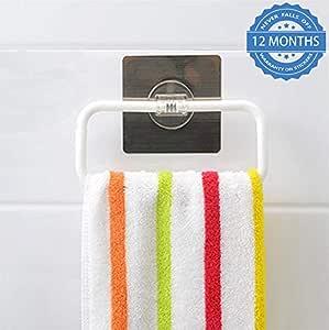 Hokipo Magic Sticker Series Self-Adhesive Plastic Towel Holder Hanger
