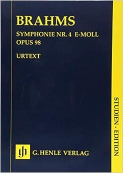 ブラームス: 交響曲 第4番 ホ短調 Op.98/原典版/Pascall編/ヘンレ社/スタディ・スコア