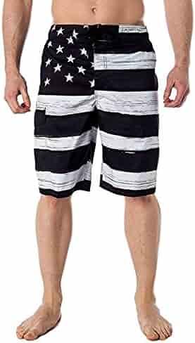 9e4fd03208 4th of July Pants,Yamally Men's American Flag Inspired Board Shorts Denim  Pants