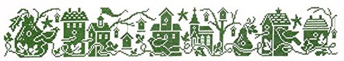 - Birdhouse Row Cross Stitch Chart