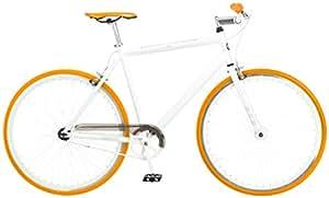 Mongoose Men's Disorder 700c Fixie Bike, White