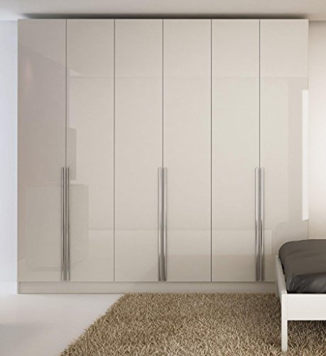 Collection Plasma Console - Manhattan Comfort Eldrige Collection 6 Door Freestanding Wardrobe Closet for Bedroom Use, 90