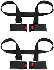2 Pack Adjustable Ski and Pole Carrier Strap, Shoulder Ski Carrier Straps Sling with Cushioned Holder