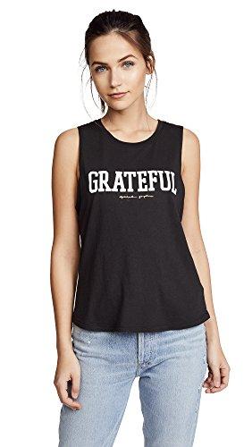 Spiritual Gangster Women's Grateful Muscle Tank, Vintage Black, Small ()